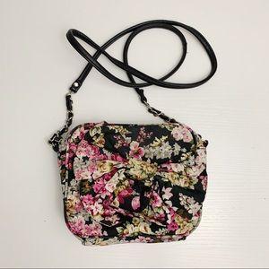 Candie's Black Floral Crossbody Bag